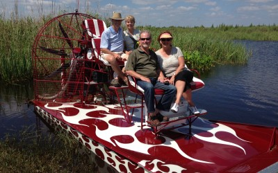 Airboat Rides - passengers on an airboat ride